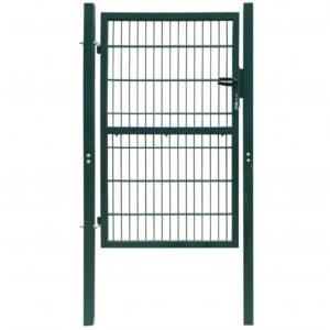 2 D portão cerca (simples), verde 106 x 190 cm - PORTES GRÁTIS
