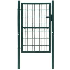 2 D portão de cerca (simples), verde 106 x 230 cm - PORTES GRÁTIS
