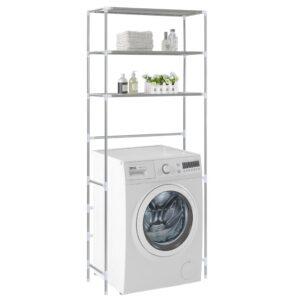 Estante de 3 prateleiras p/ lavandaria 69x28x169 cm prateado - PORTES GRÁTIS