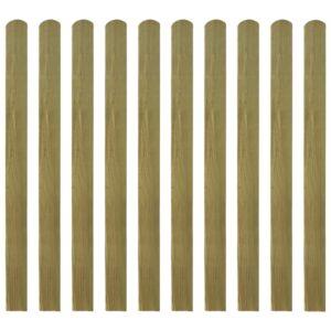 20 pcs ripas para cerca madeira impregnada FSC 120 cm - PORTES GRÁTIS