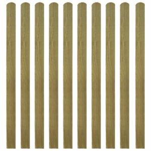 20 pcs ripas para cerca madeira impregnada FSC 140 cm - PORTES GRÁTIS