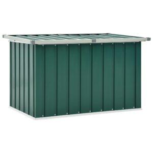 Caixa de arrumação para jardim 109x67x65 cm verde - PORTES GRÁTIS