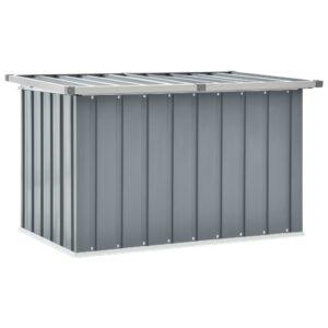 Caixa de arrumação para jardim 109x67x65 cm cinzento - PORTES GRÁTIS