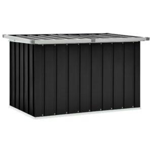 Caixa de arrumação para jardim 109x67x65 cm antracite - PORTES GRÁTIS