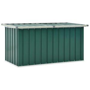 Caixa de arrumação para jardim 129x67x65 cm verde - PORTES GRÁTIS