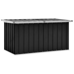 Caixa de arrumação para jardim 129x67x65 cm antracite - PORTES GRÁTIS