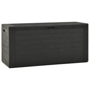 Caixa de arrumação para jardim 116x44x55 cm antracite - PORTES GRÁTIS