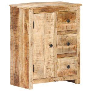 Aparador 59x35x75 cm madeira de mangueira áspera - PORTES GRÁTIS