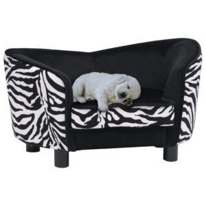 Sofá para cães 68x38x38 cm pelúcia preto - PORTES GRÁTIS