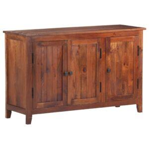 Aparador 105x35x65 cm madeira de acácia maciça castanho mel - PORTES GRÁTIS