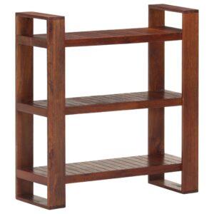 Estante 84x30x90 cm madeira de acácia maciça castanho mel  - PORTES GRÁTIS