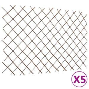 Cercas em treliça salgueiro 5 pcs 180x120 cm - PORTES GRÁTIS