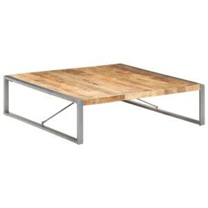 Mesa de centro 140x140x40 cm madeira de mangueira áspera - PORTES GRÁTIS