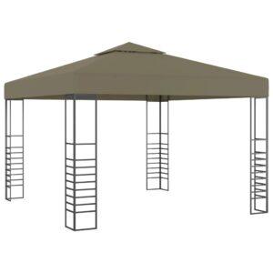 Tenda de jardim 3x3m 180 g/m² cinzento-acastanhado - PORTES GRÁTIS