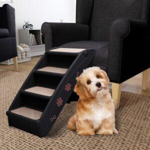 Escadas para cães dobráveis 62x40x49,5 cm preto - PORTES GRÁTIS