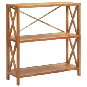 Estante com 3 prateleiras 80x30x87 cm madeira carvalho maciça - PORTES GRÁTIS
