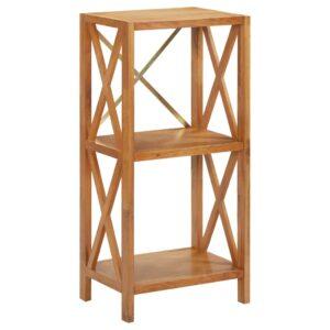 Estante com 3 prateleiras 40x30x87 cm madeira carvalho maciça - PORTES GRÁTIS