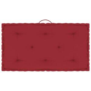 Almofadão para móveis de paletes 73x40x7 cm algodão bordô - PORTES GRÁTIS