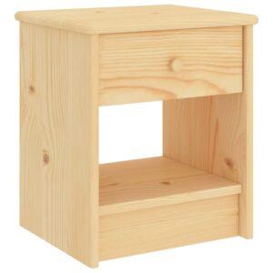 Mesa de cabeceira 35x30x40 cm madeira de pinho maciça clara - PORTES GRÁTIS