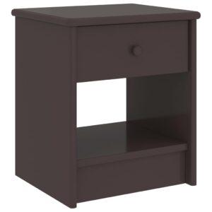 Mesa de cabeceira 35x30x40 cm pinho maciço castanho-escuro - PORTES GRÁTIS