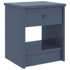 Mesa de cabeceira 35x30x40 cm pinho maciço cinzento-claro - PORTES GRÁTIS