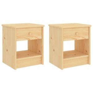 Mesas de cabeceira 2 pcs 35x30x40 cm madeira pinho maciça clara - PORTES GRÁTIS