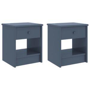 Mesas de cabeceira 2 pcs 35x30x40cm pinho maciço cinzento-claro - PORTES GRÁTIS