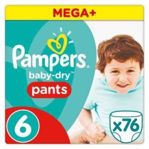 76 Fraldas descartáveis Pampers Baby-Dry +15 kg  (Refurbished A+)