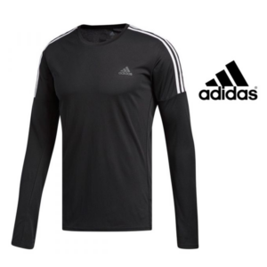 Adidas® Camisola Run It 3 Stripes Black