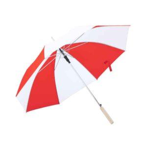 Guarda-Chuva Nylon (105 cm) Branco/Vermelho