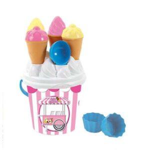 Balde de Praia Ice Cream Plástico