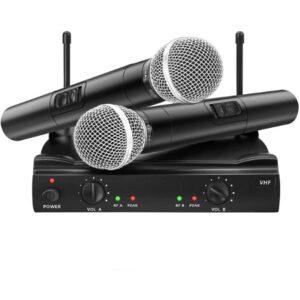 Microfone dinâmico EIVOTOR UHF Preto (2 pcs) (Refurbished A+)