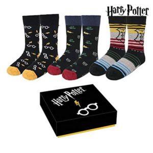 Meias Harry Potter 3 pares (Tamanho único (35-41))