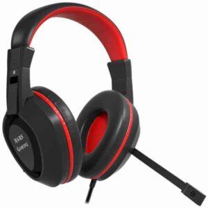 Auriculares com microfone para Vídeojogos Mars Gaming MAH1V2 Preto/Vermelho (Refurbished A+)