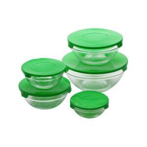 Conjunto de Lancheiras Renberg Verde Vidro (5 pcs)