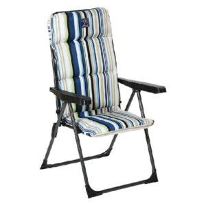 Cadeira de Praia Aço Riscas (68 x 58 x 107 cm)