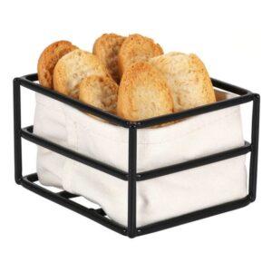 Cesta do Pão Preta Cabaz 100 % algodão (12 x 10 x 7 cm)