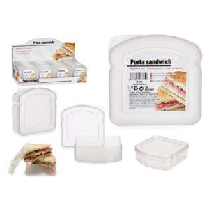 Lancheira Sandwich Transparente Plástico (12 x 4 x 12 cm)
