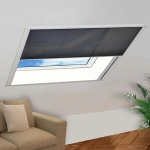 Tela anti-insetos plissada para janela alumínio 130x100 cm  - PORTES GRÁTIS