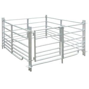 Curral/recinto para ovelhas c/ 4 painéis aço galvanizado 137x137x92 cm    - PORTES GRÁTIS