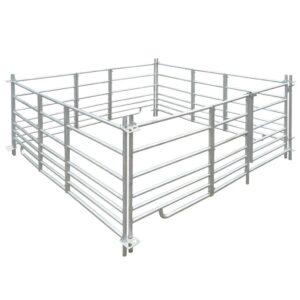 Curral/recinto para ovelhas c/ 4 painéis aço galvanizado 183x183x92 cm    - PORTES GRÁTIS