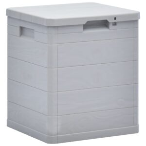 Caixa de arrumação para jardim 90 L cinzento claro - PORTES GRÁTIS