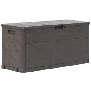 Caixa de arrumação para jardim 280 L castanho - PORTES GRÁTIS