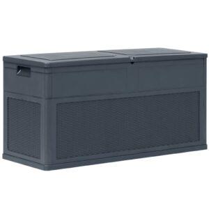 Caixa de arrumação para jardim 320 L antracite - PORTES GRÁTIS