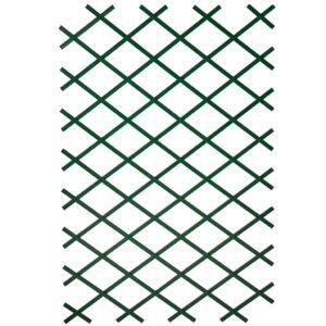 Nature Treliças de jardim 2 pcs 100x200 cm PVC verde - PORTES GRÁTIS