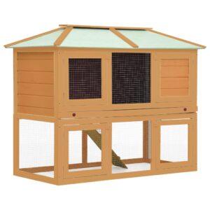 Gaiola para coelho c/ dois pisos madeira - PORTES GRÁTIS