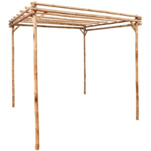 Pérgola de bambu 170x170x220 cm  - PORTES GRÁTIS