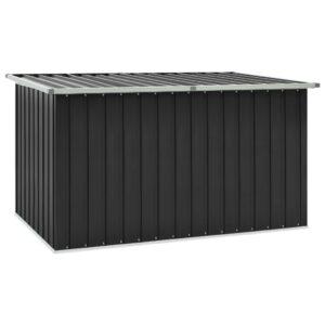Caixa de arrumação para jardim 171x99x93 cm antracite - PORTES GRÁTIS
