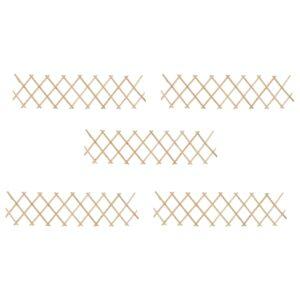 Cercas em treliça 5 pcs 180x30 cm madeira de abeto - PORTES GRÁTIS