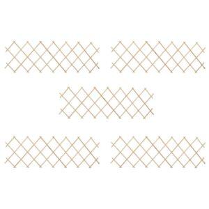 Cercas em treliça 5 pcs 180x60 cm madeira de abeto - PORTES GRÁTIS